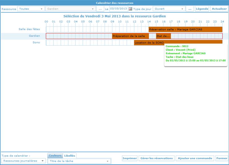 Souvent Accueil : logiciel de gestion des salles, des évènements, planning  GI05